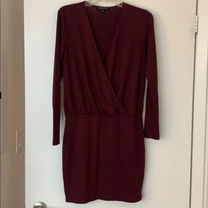 Dynamite Maroon Knit Dress